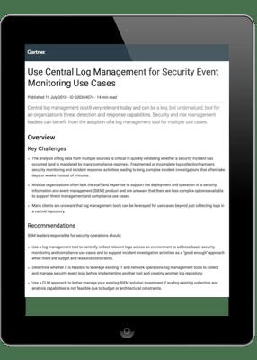 Gartner Log Management Security Image